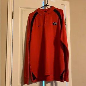 University of Georgia Bulldogs Nike sleeved Polo